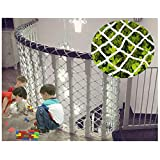Protection Net,Stairs Balcony Child Safety Cargo Anti-Fall Protective Garden Plant Climbing Trellis Netting Decoration Mesh Grid Replacement Rope Net,1 * 1m(3.3 * 3.3ft)-Larger Size,Customization