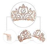 Didder Rose Gold Crystal Tiara Crown Headband