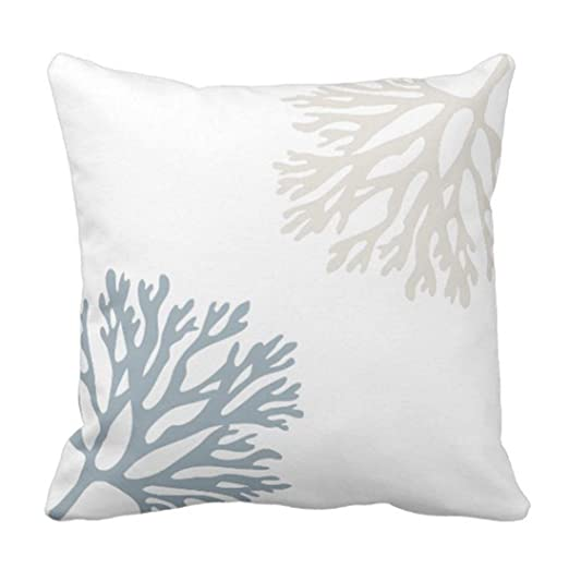 Koore - Cojín Decorativo Tan Blues Sandy Sea Coral Hues ...