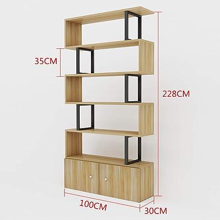 Shelves Estantes ZR - Cubo de Madera en Forma de S, Organizador de Mesa de café para Oficina, estantería, Sala de Estar, Escritorio, Madera, 6 layers-100cm: Amazon.es: Hogar