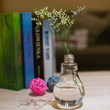 Demarkt Florero de Vidrio Transparente Colgante Decoración de Bombilla de Flores Plantas
