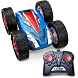 Force1 Remote Control Car Stunt Car - Cyclone RC Car Double-Sided Flip Radio Control Car w/ LED Lights, Off Road Remote Cars for Boys and Girls (Blue)
