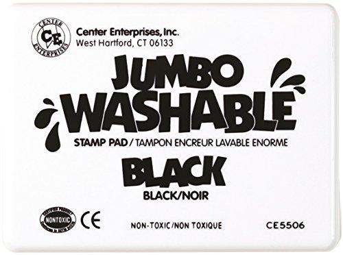 Center Enterprise CE5506 Jumbo Washable Stamp Pad, Black ()