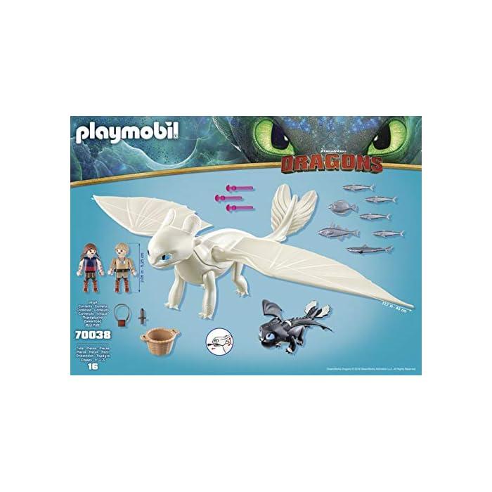 51zqTVK c%2BL Diversión para pequeños aventureros: DreamWorks Dragons Furia Diurna y bebé Dragón con niños, Juego de PLAYMOBIL con figuras y otros accesorios para jugar Furia Diurna con función de tiro para flechas, Niños vikingos con mano de agarre para accesorios PLAYMOBIL, entre otros, adecuado para set de juego Hipo y Desdentao con bebé Dragón PLAYMOBIL (70037) Juego de figuras para niños a partir de 4 años: óptimo para el tamaño de sus manos y bordes redondeados agradables al tacto