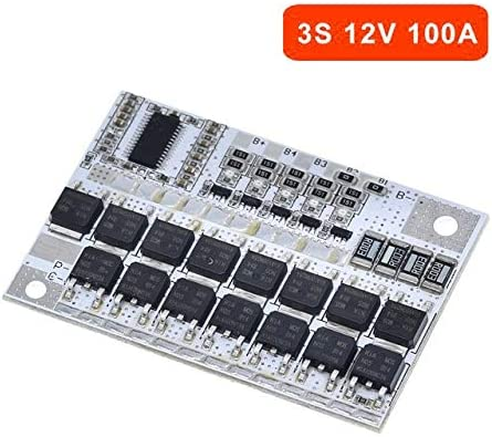 Xiang Ye 充電モジュール3S / 4S / 5S BMS 12V 16.8V 21V 100Aリチウムイオン(Li-ion)LMO三元リチウム電池保護回路ボードLiポリマバランス (Size : 3S)