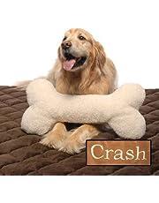 Carolina Pet 01788 Sherpa Bone Shaped Pillow/Toy for Pets, Large, Natural