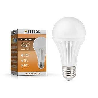 Sebson® E27 12W LED (Equivale de 80W - Calido Blanca - 1150lm - SMD