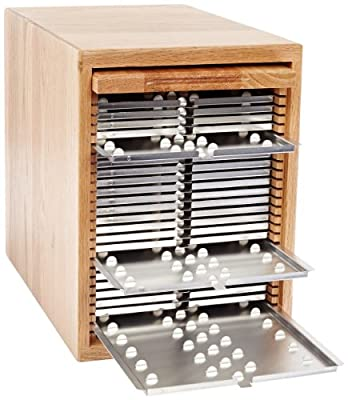 Eberbach E2800 Oak Wood Microscope Slide Unit System, Holds 500 Slides, 25 x 75mm Slide Size