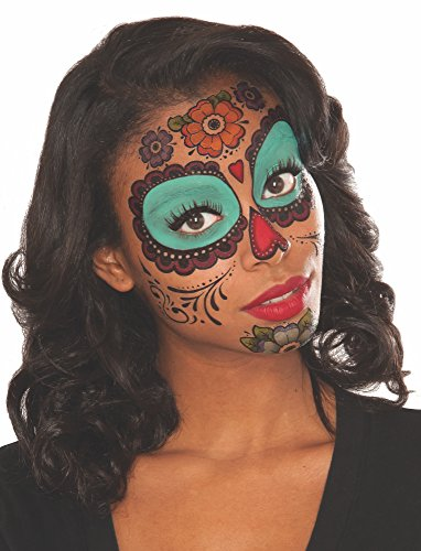 Rubie's Women's Floral Day of The Dead Face Tattoo, Multi, One Size