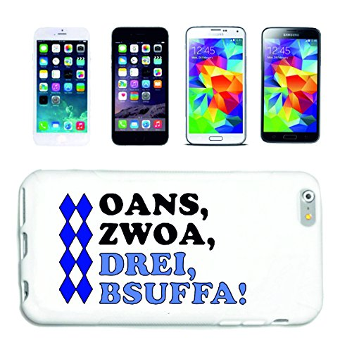 "cas de téléphone iPhone 7 ""trois Bsuffa Oktoberfest Wiesn baccalauréat Fairground Hofbräu Reeperbahn de oans"" Hard Case Cover Téléphone Covers Smart Cover pour Apple iPhone en blanc"