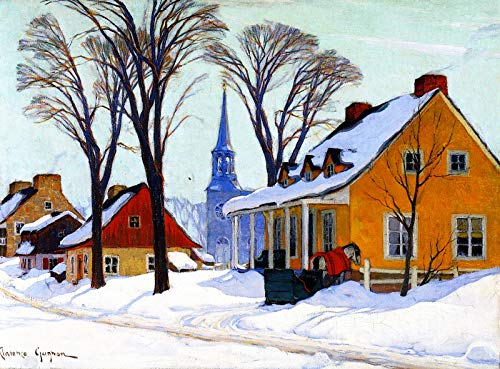 Clarence Gagnon Winter Morning, Baie-Saint-Paul 1926-1934 Musee National des Beaux-Arts Du Quebec 30