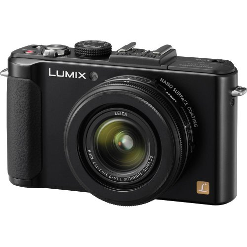 Panasonic Lumix DMC-LX7 Digital Camera (Black) + 8GB SDHC Memory Card