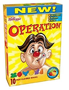 Kellogg's Operation Fruit Flavored Snacks, 10-Count Boxes (Pack of 10)