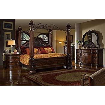 Inland Empire Furnitures Giana Queen Adult Canopy Bed Set