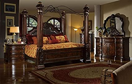 Attrayant Inland Empire Furnitureu0027s Giana Queen Adult Canopy Bed Set