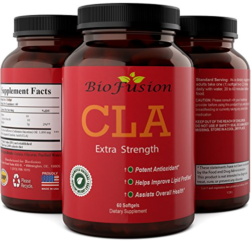 CLA Weight Loss Supplement for Adults with Pure Conjugated Linoleic Acid with Natural Safflower Seed Oil Fat Burner CLA Softgels for Metabolism, Workout Boost Build Muscle and Strength by Biofusion