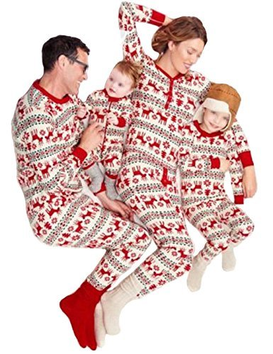 [iPretty Family Matching Dad/Mom/Kid/Baby Christmas Pajamas Xmas Homewear Sleepwear Nightwear Outfits Set Boy] (Elf Outfit For Women)