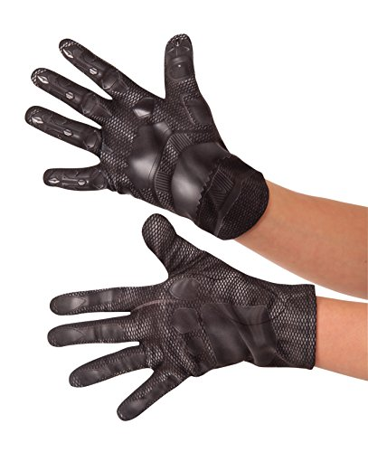 [Rubie's Costume Captain America: Civil War Kid's Value Black Panther Gloves] (Black Panther Costume Marvel)