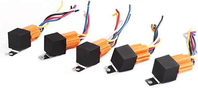 Diagram Amazon Com 5 Pack 40 Amp Relay Harness Spdt