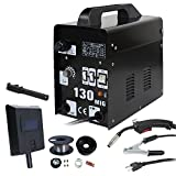 MIG Welder - F2C MIG-130 Gas Less Flux Core Welder Welding Machine Gas Welder W/Cooling Fan 110V(MIG-130)