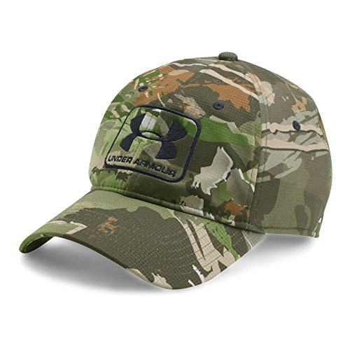 Under Armour Men's Camo Stretch Fit Cap, Ridge Reaper Camo Fo (944)/Black, Large/X-Large