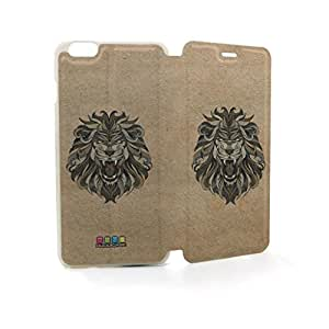 JMM - Lion Animal Head Design PU Leather Flip Case Cover for Apple iPhone 6 Plus 6th 6Generation 5.5