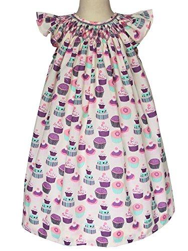 Smocked Cupcake (Carouselwear Baby Girls Birthday Bishop Dress Hand Smocked Cupcakes)