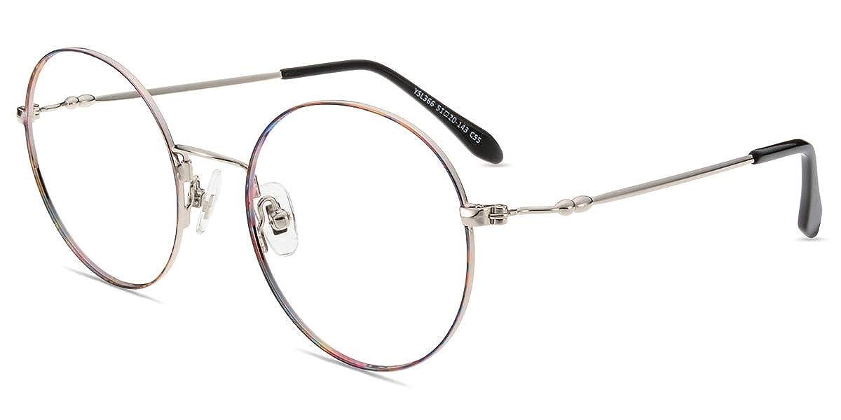 HENGSONG Retro Runde Brille mit Fensterglas Damen Herren Brillenfassung   (Gold ) mei  mei9 ME6010 Weihnachtsverzierung 6dba3c14d7