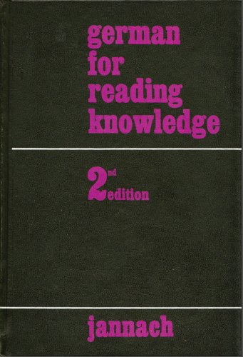German for Reading Knowledge -  Jannach                      H, Textbook Binding