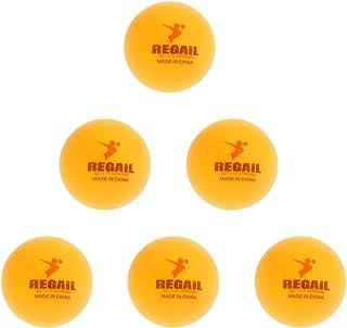 perfk 6 Palline Ufficiale Da Ping Pong In PVC 40mm - Colorati - Giallo MagiDeal