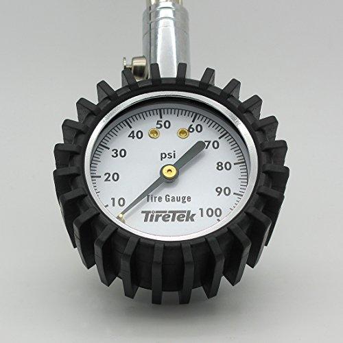 TireTek Flexi-Pro Tire Pressure Gauge, Heavy Duty - Best For Car & Motorcycle 0-100 PSI by TireTek (Image #7)