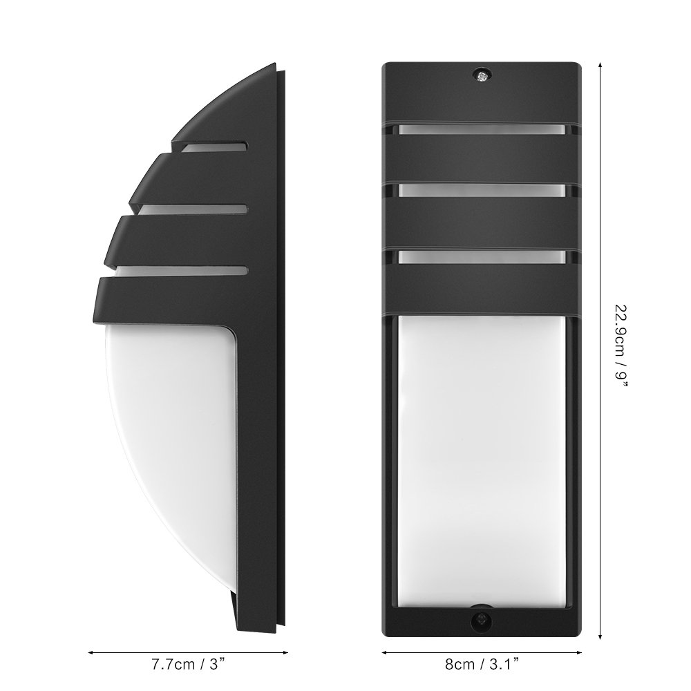 ONEVER IP65 Waterproof Wall Sconce Outdoor Porch Wall Mounted Lighting Fixtures AC 110V Pack of 8X, Warm White LED Porch Sconce Light