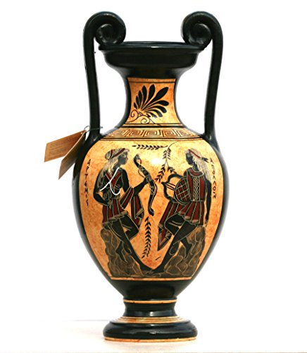 Greek Jar - Greek Ceramic Amphora Jar Vase Pot Painting Goddess Artemis God Apollo