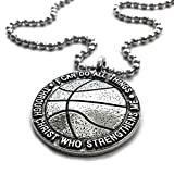 Basketball Necklace 'I Can Do All Things Through Christ'