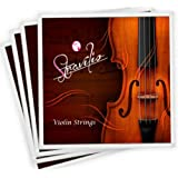 Full Set High Quality Violin Strings Size 1/2 & 1/4 Violin Strings, G D A & E (Full-Size) … B004IJE6PO (Dimensione Piena)