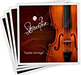 Full Set High Quality Violin Strings Size 1/2 & 1/4 Violin Strings, G D A & E