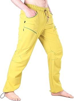 UCRAFT Pantalones Escalada y Yoga. Unisex, Anatómicos, Elásticos y Transpirables. (Amarillo, XS)