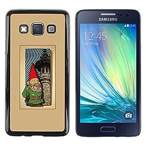 For Samsung Galaxy A3 / SM-A300 , S-type® Garden Brown Golden Poster - Arte & diseño plástico duro Fundas Cover Cubre Hard Case Cover