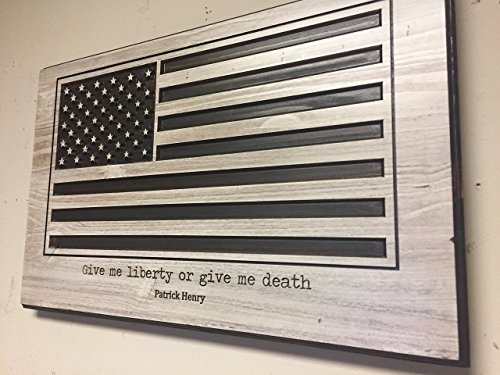 American Flag Wall Art, Wooden Flag, Wood Wall Art, Large US Flag Sign, Veterans Day, Military, Anniversary gift, Give me liberty or give me death sign, Patrick Henry, shabby chic, rustic hanging sign
