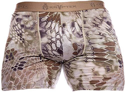 Kryptek Hoplite II Merino Boxer LW - Lightweight, Wool Camo Briefs (Baselayer Collection), Highlander, L ()
