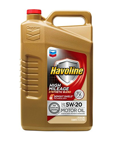 - Havoline 5W20 High Mileage Synthetic Blend, 5 Quarts, 1 Pack