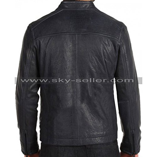 Skyseller uk Black Biker Giacca Uomo xzXBY