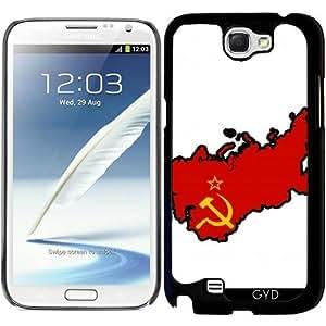 Funda para Samsung Galaxy Note 2 (GT-N7100) - Soviet Mapa De La Bandera by Cadellin