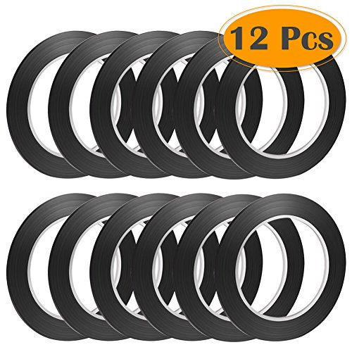 Selizo 12 Pcs Black Whiteboard Gridding Graphic Tape, 3mm ()