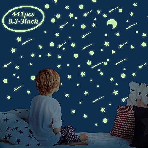Tailiand 441 pcs Glow in The Dark Stars