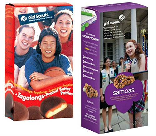 Girl Scout Cookies - Samoas (Caramel De Lites) and Tagalongs (Chocolate Peanut Butter Patties) - One Box of Each