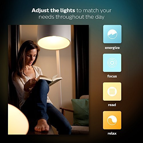 Philips Hue White Ambiance Smart Dimming Kit, Installation-Free, 1 Bulb, 1 Dimming Switch, Exclusive for Philips Hue Lights, Works with Alexa, (California Residents) by Philips (Image #5)