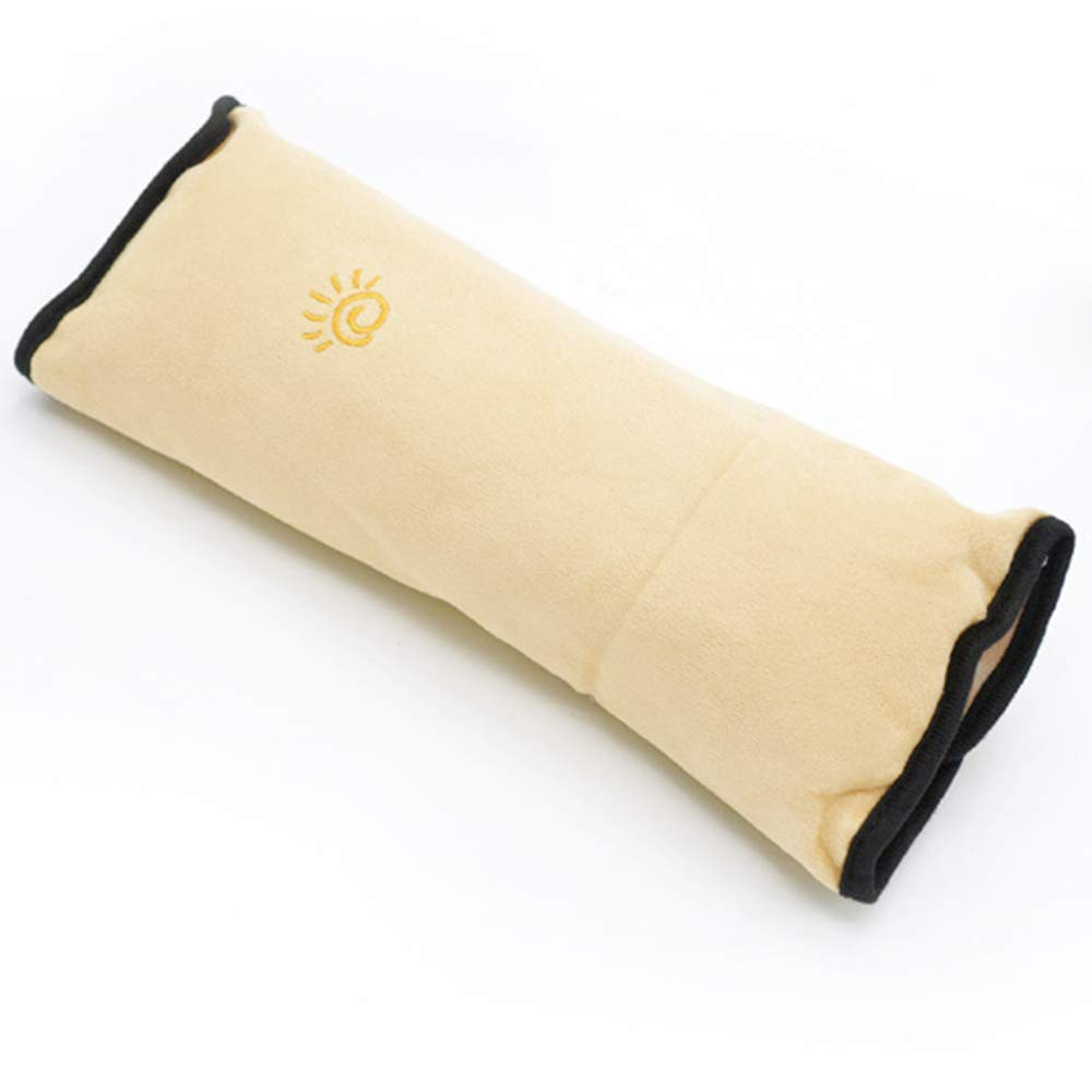 Ecloud Shop Seatbelt Pillow, Car Seat Belt Covers Kids, Adjust Vehicle Shoulder Pads, Safety Belt Protector Cushion, Soft Auto Seat Belt Strap Cover Headrest Neck Support Children Baby (Yellow)