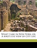 What I Saw in New-York; or, a Bird's Eye View of City Life, Joel H. Ross, 1175873454