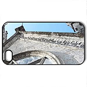 Basilica del Voto Nacional 2 - Case Cover for iPhone 4 and 4s (Religious Series, Watercolor style, Black)